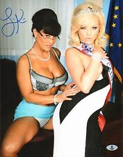 Lisa Ann Signed 11x14 Photo BAS Beckett COA Nailin Sarah Palin w/ Alexis Texas