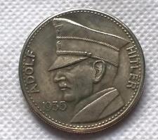 1935 alemán Adolf Hitler 5 RM Token se ve viejo Segunda Guerra Mundial