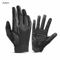 ROCKBROS Bicycle Gloves Full Finger Cycling Mitts Autumn Non-slip Gloves Black