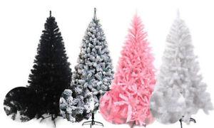XMAS SALE :1.8m/6ft White/Pink/Black/Green Artificial Luxury Christmas Tree pvc