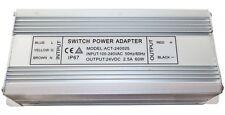 electrónico LED TRANSFORMADOR ADAPTADOR DE RED 1-60w 160-250v 2x 24v 5.0A IP67