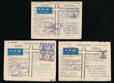 INDIA RAF WW2 CENSORS SOUTH EAST ASIA BASE OFFICE PMKs GREEN ENV.3078 + STAMPS