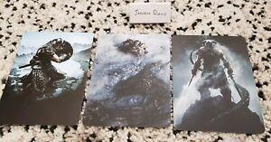Art cards from Elder Scrolls Skyrim Australia Exclusive EB games special edition