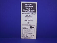 1957 Pennsylvania Railroad Timetable 4/28 DC Montreal Quebec Form 76 1st Ed.