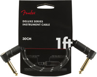 Fender Deluxe BLACK TWEED Guitar/Instrument Patch Cable, Right-Angle, 1' ft