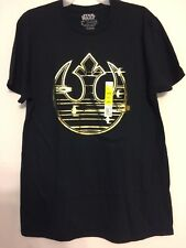 Star Wars Black and Gold Tee Shirt Mens Size L (42/44)
