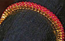 22K 916 Yellow Solid GOLD RUBY Bangle Bracelet Antique Vintage Not scrap