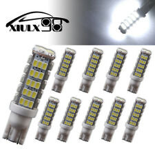 10X Xenon White T10 68 LED SMD Camper Backup Light Bulbs W5W 194 168 12V