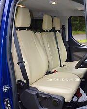 Ford Transit Custom Van Tailored Genuine Fit Seat Covers Cream Leatherette