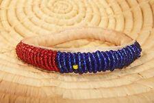 African Dogon Beaded Leather Bangle Bracelet SMALL ethnic tribal boho jbdt52