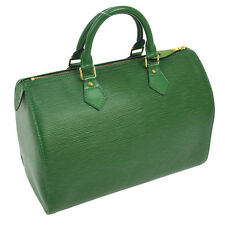 AUTH LOUIS VUITTON SPEEDY 30 HAND BAG PURSE GREEN EPI LEATHER M43004 A32193