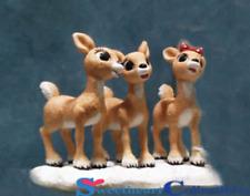Enesco Rudolph Reindeer Clarice & Does Singing Retired 875317