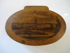 Antique ~ Mauchline Ware ~ Advertising Spool Sewing Box ~ John Clark & Co.