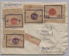 Localement Fredersdorf sp 170-173 sur lettre N. Berlin, 3 x corindon F, 3 x Han! (b06175)