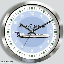 ALASKA AIRLINES BOEING 727 WALL CLOCK METAL 1970's 80's