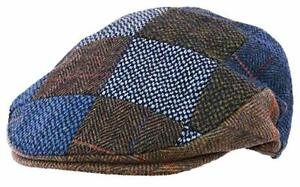 """ The Quiet Man"" Irish Multi Tweed Flat Cap -  Small, Medium, Large & X Large"