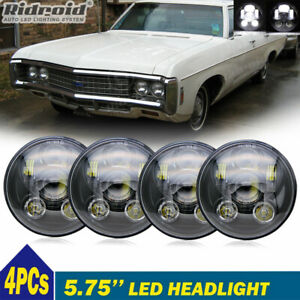 "4pcs 5 3/4"" 5.75 LED Headlights Hi/Lo Beam for Chevy Bel Air Corvette 1962-1975"