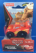 LIGHTNING McQUEEN Wheelies Toy Car by Fisher-Price Disney Cars *Package Damage*