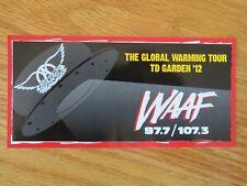 "WAAF 107.3 FM The Garden GLOBAL WARMING 2012 AEROSMITH Concert Tour 7"" Sticker"