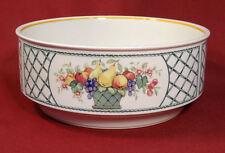 Villeroy & Boch BASKET Fruit Lattice Pattern Round Vegetable Bowl Straight Edge