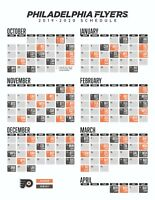 NHL Philadelphia Flyers 2019 Hockey Schedule Poster 12x18 or 24x36 or 27x40