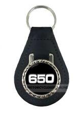 YAMAHA XS 650 XS650  MOTORCYCLE  leather  keyring keychain keyfob