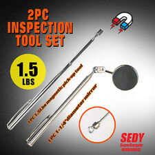 Magnet Telescopic Magnetic Pick Up Rod & Inspection Round Mirror Tool Stick