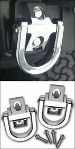 HPC Hummer H2 Smooth Chrome Billet Rear Tow Eye set