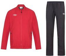 New Mens Umbro Full Tracksuit Jogging Bottoms Zip Jacket Track Top - Black    Red 6d7212c03c906