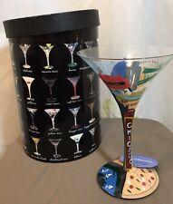 "Lolita ""Chicago-tini"" Chicago Martini Glass  NEW with box"