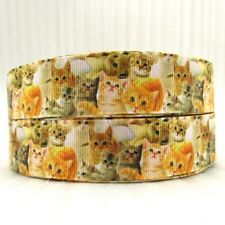 CAT Kitten  grosgrain ribbon hair bows key chains lanyards crafts FREE SHIP