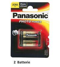1 batteria Litio 2CR5  6V  PANASONIC  equivalente a DL245 2CR5 Duracell