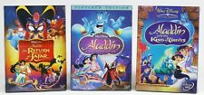 Aladdin 1, 2, and 3 -Trilogy-  (3-DVD Bundle)  SHIPS FAST!   BRAND NEW!