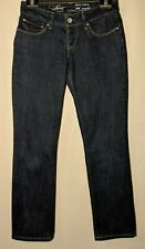 WOMEN'S LEVI'S JEANS BOLD CURVE STRAIGHT STRETCH DARK BLUE SIZE 8 LEG 29""
