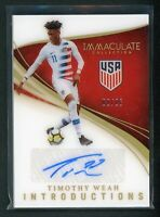 2020 TIMOTHY WEAH 02/25 AUTO PANINI IMMACULATE COLLECTION INTRODUCTIONS