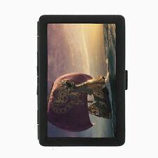 Dragon D20 Black Cigarette Case / Metal Wallet Mythology Beast Fire