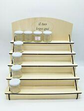 Espositore in legno da banco scaletta unghie smalti artigianato miele candele