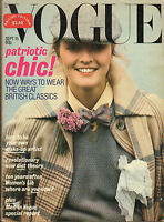 SEPT 15 1977 -  BRITISH VOGUE - vintage fashion magazine