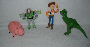 #6813 New Displayed Thinkway Original Toy Story Figures Hamm/Buzz/Woody & Rex