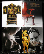Christies catalogue - x4, euro furniture. art, tapestries, carpets,   f118