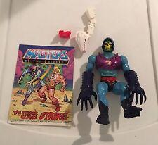 1985 Terror Claws Skeletor + Comic Complete Vintage MOTU Figure