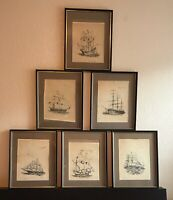 "RARE Limited Edition Jim Campbell ""The Ship Guy"" Signed Numbered Prints Set of 6"