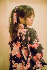 Japanese Lolita Cherry Cat Kimono Jacket Women Summer Sakura Neko Yukata Robe