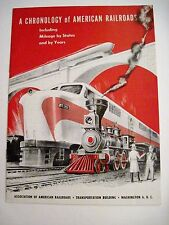 "1954 ""A Chronology of American Railroads"" Booklet Published by Washington DC"