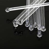 50 Clear Swizzle Sticks - Cocktail Coffee Plastic Stirrer - 15 Cm Long