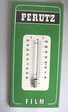 Rare German Perutz Film Porcelain Enamel Sign Board w/o Temperature Meter