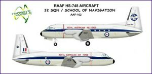 1/144 RAAF DECALS; Hawker Siddeley HS.748 32 SQN & SAN