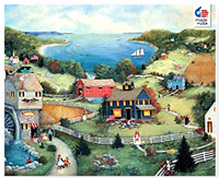 Ceaco Jigsaw Puzzle Linda Stock Nelson Catherine's Cove Art Poster Tower Box 550