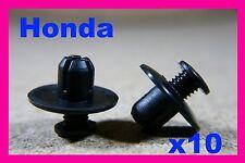Honda 10 WHEEL ARCH TRIM PANEL Mud Guard Fender FASCIA COVER Fastener Clips