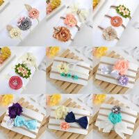 3Pcs/Set Baby Girl Lace Flower Bow Headband Elastic Headband Headwear Accessory